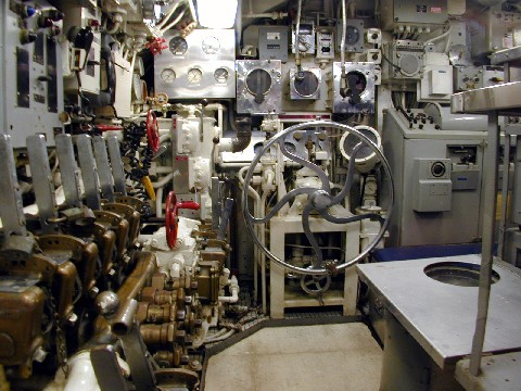 Control room onboard the Clamagore.