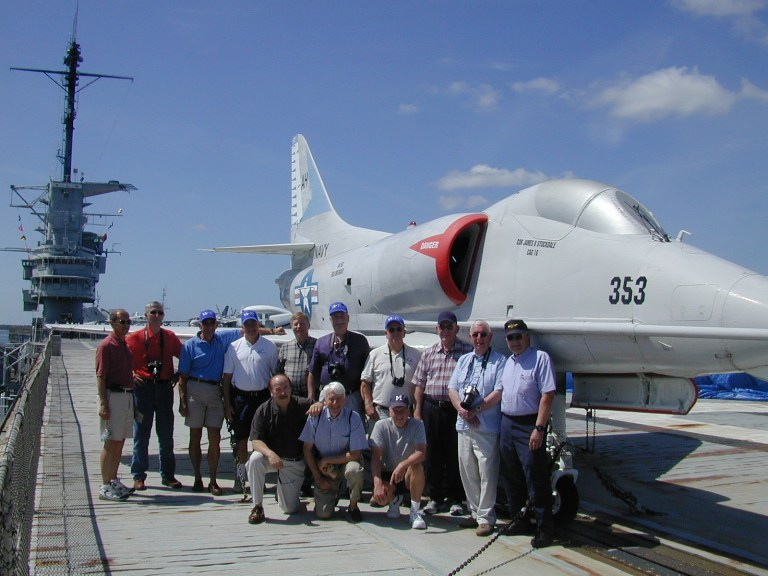 VA-72 reunion group onboard Yorktown, CV-10.
