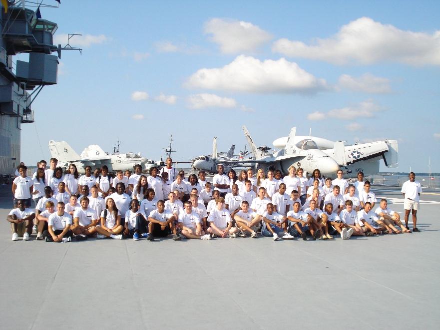 Patriots Point 2009 YLC students