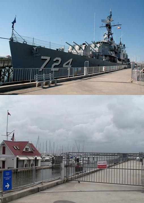 Laffey at the pier and departed...a different sight....