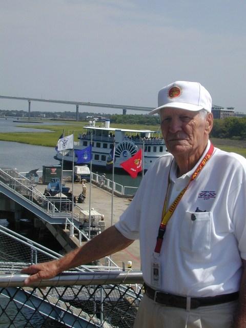 Jim Morrow, volunteer extraordinaire onboard USS Yorktown at Patriots Point.