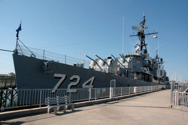 USS Laffey before departure from Patriots Point.