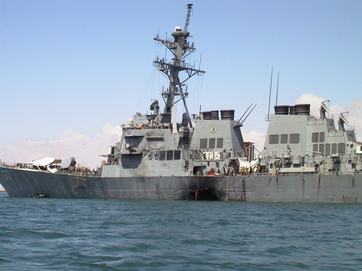 Image result for uss cole was bombed in yemen's aden harbor in 2000