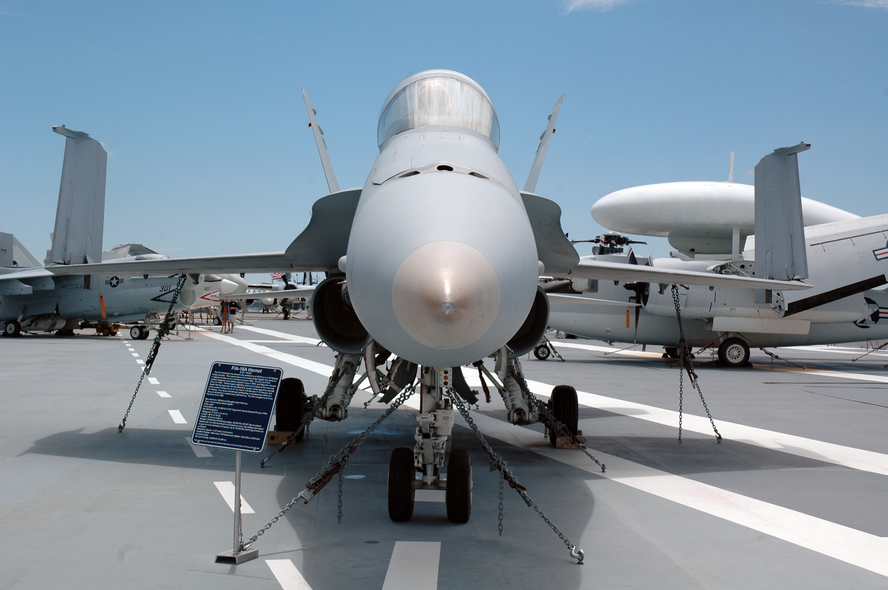 The F-18 Hornet will be open for visitors to check out!
