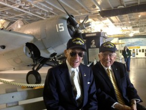 Commander Maxwell (left) and former Governor Edwards (right)