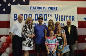 The Matney is pictured with (from left) Patriots Point Executive Director Mac Burdette, Patriots Point Development Authority Board Member Susan Marlowe and former Governor James B. Edwards (far right), who served as Governor of the State of South Carolina when the museum opened in 1976.