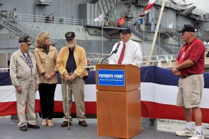 Opening New Exhibit - Mount 53, on the USS Laffey