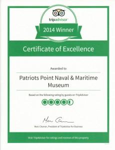 TripAdvisor Certificate of Excellence 2014