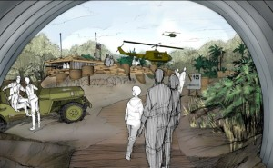 Conceptual Art for the Vietnam Experience Exhibit. View from Command Bunker