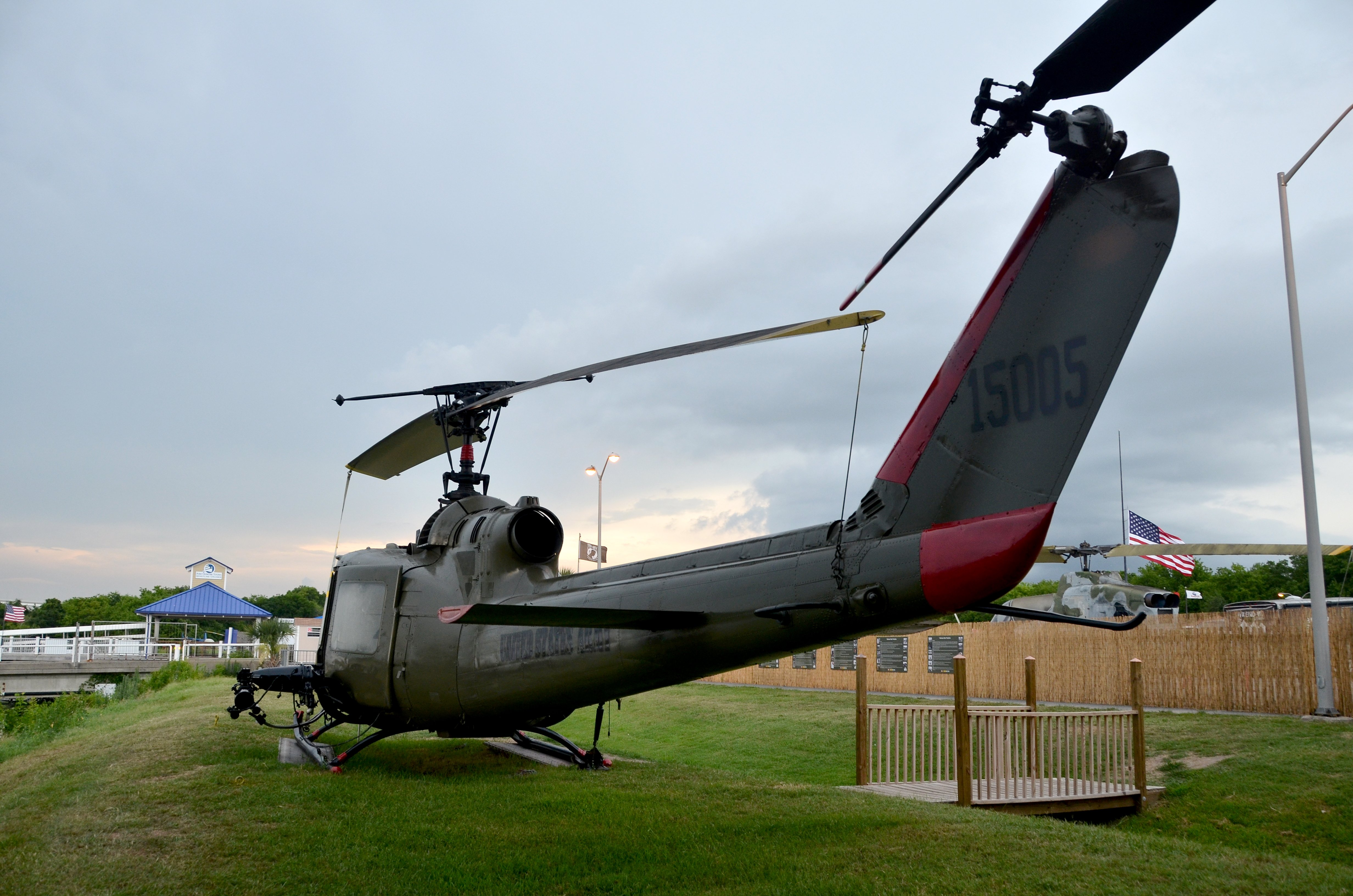 Huey Helicopter in Vietnam Experience Dedicated to Fallen