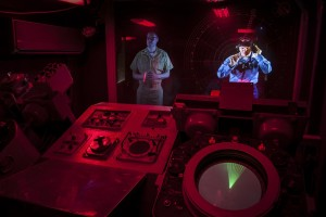 The new Cold War Combat Information Center exhibit features two holograms.