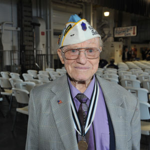 "Pearl Harbor survivor D.L. ""Don"" Ralph of Manning, SC attended the memorial service"